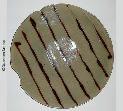 Red Striped Platter