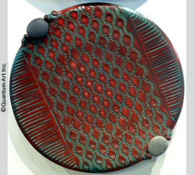 Platter with stone handles