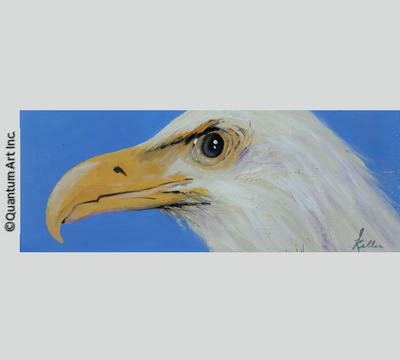 Eagle on Blue